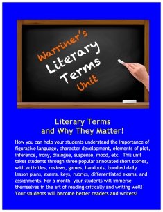 TPT Cover Literary Terms Unit copy