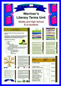Warriner's Literary Terms Unit Helps Reading Comprehension for Middle School ELA Students