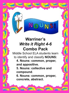 Warriner's Write it Right 4-6 Combo Pack covers Nouns!