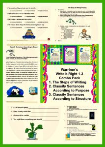 Warriner's Write it Right 1: The Steps of Writing. Available at Warriner's English and Composition Classroom