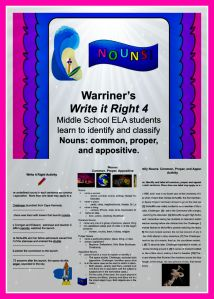 Warriner's Write it Right 4: Nouns--Common, Proper, and Appositive available at warrinersclassroom.com