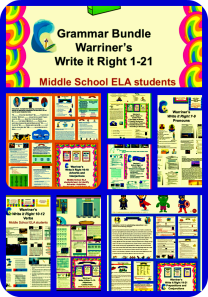 Warriner's Write it Right 1-21 Grammar Bundle. Available at: https://www.teacherspayteachers.com/Store/Warriners-English-And-Composition-Classroom