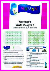 Warriner's Write it Right 6: Common, Proper, Concrete, and Abstract Nouns. Middle School ELA students. Activities, Rubrics, and Handouts included. Available at Warriner's English and Composition Classroom: https://www.teacherspayteachers.com/Store/Warriners-English-And-Composition-Classroom